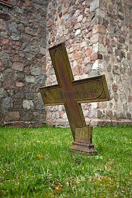 Broken church cross - p301m714372f by Larry Washburn