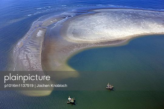 Sandbank Luftaufnahme - p1016m1137519 von Jochen Knobloch