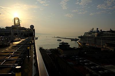 Genoa, Harbour  - p1105m2125108 by Virginie Plauchut