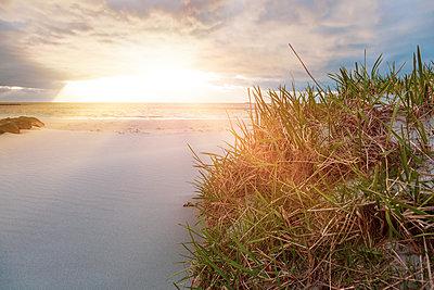 Sonnenstrahlen und Regenwolken am Strand - p1168m1590056 von Thomas Günther