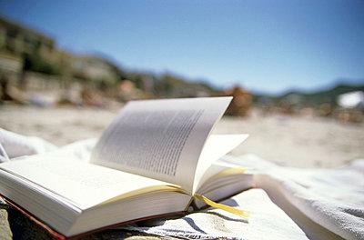 Buch am Strand - p2680638 von Jana Kay