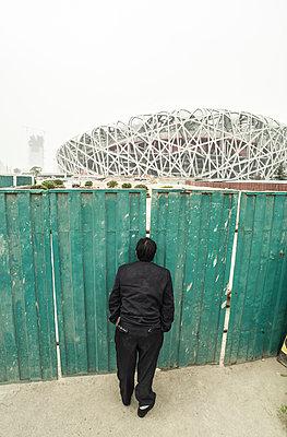 Olympia Stadion Beijing - p1202m1061296 von Jörg Schwalfenberg