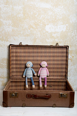 Zwei Stoffaffen - p451m907507 von Anja Weber-Decker