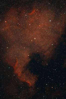 Astrophoto, Emission Nebula NGC 7000 or North America Nebula - p300m2024102 by Thomas Grohmann