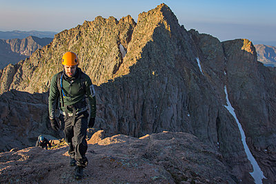 Two Man Hiking On The Summit Of North Eolus - p343m1416071 by Taylor Reilly