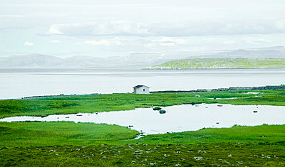 Lonely house on North Cape Island - p382m2254525 by Anna Matzen