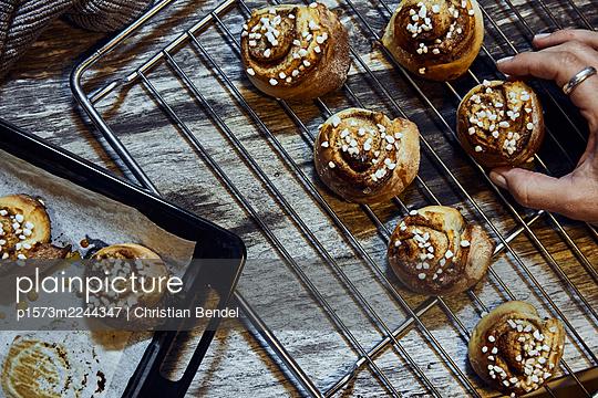 Sweden, Cinnamon buns - p1573m2244347 by Christian Bendel