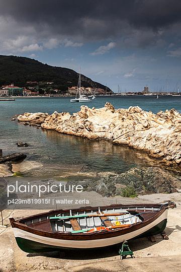 Fishing boats near Marciana Marina, Elba Island, Italy - p429m819915f by WALTER ZERLA