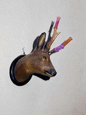 Deer head - p1279m2125612 by Ulrike Piringer
