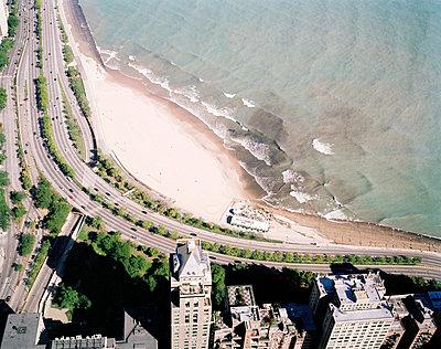 Blick auf Chicago und Lake Michigan - p3880215 von Jim Green