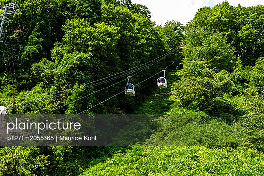 Seilbahn in den Japanischen Alpen - p1271m2055365 von Maurice Kohl