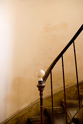 Stairway in an old building - p2481021 by BY