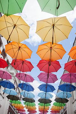 Colorful umbrellas - p312m1472263 by Christina Strehlow