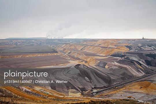Ausblick auf den Tagebau Garzweiler bei Jüchen - p1319m1149947 von Christian A. Werner
