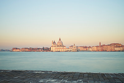 Santa Maria della Salute at sunrise - p1312m1575223 by Axel Killian