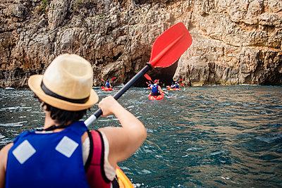 Spain, Kayak excursion to Cova Tallada  - p1579m2196862 by Alexander Ziegler