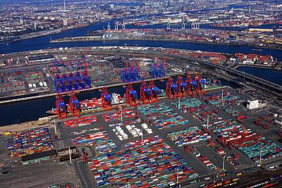Containerhafen; Waltershof - p1016m741969 von Jochen Knobloch