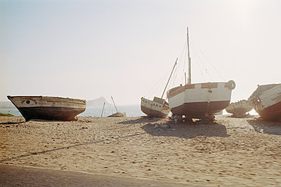 Fishing boats, Peru, Talara - p1177m970413 by Philip Frowein