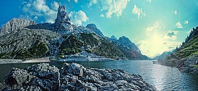 Mountain lake - p947m658330 by Cristopher Civitillo