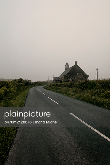 Old church on the Isle of Arran - Scotland - p470m2128878 by Ingrid Michel