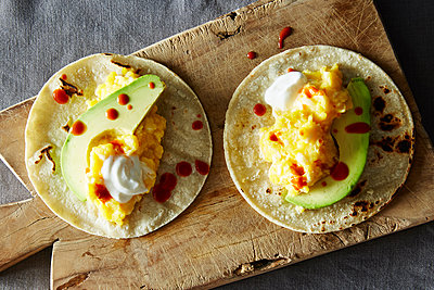 Scrambled egg breakfast tacos - p1379m1486488 by James Ransom