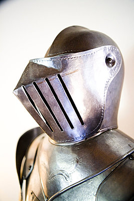 Close-up of a helmet of a knight - p4550657f by GUSK