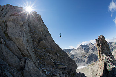 Alpine Highline - p343m1112097f by Sebastian Wahlhuetter