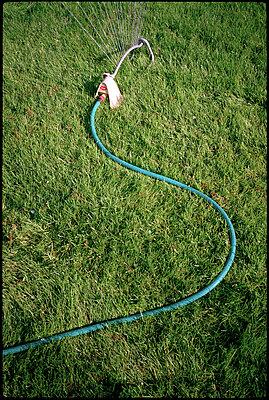Sprinkler in grass - p3720341 by James Godman