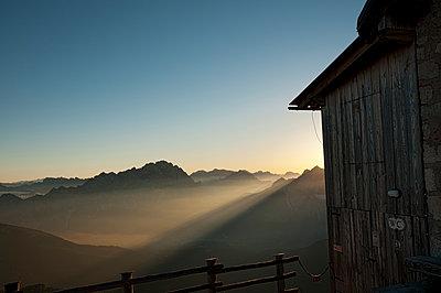 Berghütte auf dem Nuvolau - p470m1190157 von Ingrid Michel