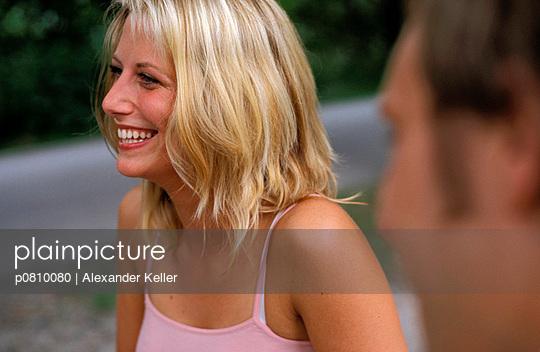 Fröhliche Frau - p0810080 von Alexander Keller
