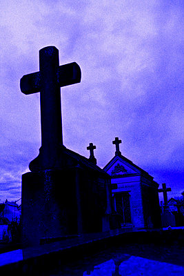 Graveyard at night - p8620068 by Michel Gile