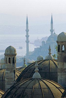 Suleymaniye complex overlooking the Bosphorus, Istanbul, Turkey, Europe - p8710667 by James Strachan