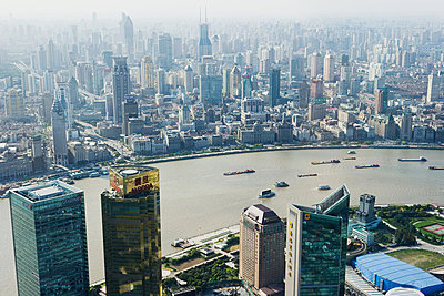 Huangpu river shanghai - p9246134f by Image Source