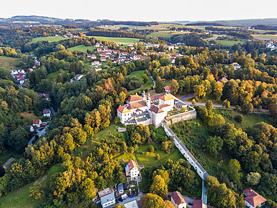 Germany, Bavaria, Passau, City of three rivers, Aerial view of Maria Hilf Church - p300m2070053 by JLPfeifer
