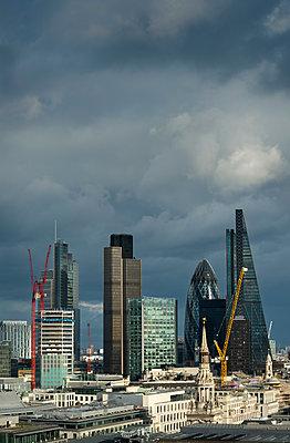City of London skyline, London, UK - p429m1135451f by Mischa Keijser