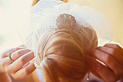 Blonde bride - p5820035 by our labor of love