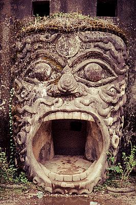 Mouth statue gateway in Buddha Park also known as Xieng Khuan, Vientiane area, Laos, Southeast Asia - p934m1177072 by Sebastien Loffler
