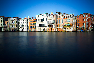 Row of houses by the canal, Venice, Italy - p1062m1039673 by Viviana Falcomer