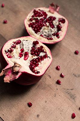 Halved Pomegranate - p947m2173946 by Cristopher Civitillo