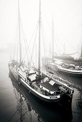 Germany, Museum harbour in Ovelgönne - p851m2186173 by Lohfink