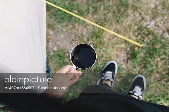 Kaffee am Morgen auf Campingplatz - p1497m1584597 von Sascha Jacoby