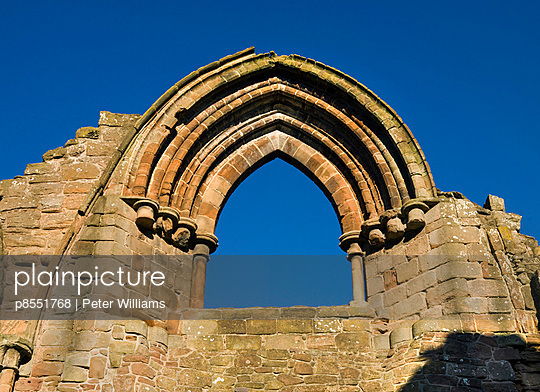 Lilleshall Abbey. Close up of a window in the Nave. - p8551768 by Peter Williams