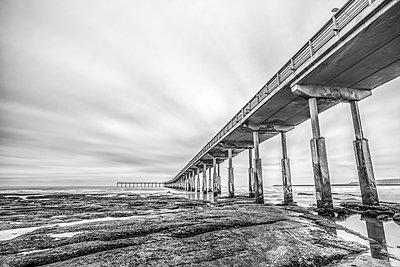 Ocean Beach Pier - p1436m1588859 by Joseph S. Giacalone