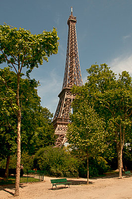 Eiffel Tower within the grounds of The Champ de Mars. - p1072m829215 by Neville Mountford-Hoare