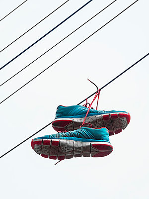 Shoes on telephone lines - p1280m2008544 by Dave Wall