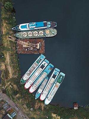 Dockyard in Shlisselburg - p1108m2110499 by trubavin