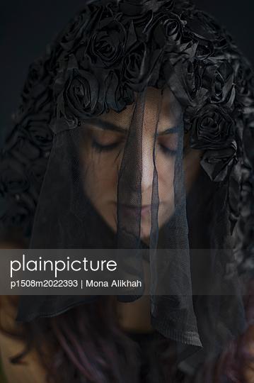 Woman in black - p1508m2022393 by Mona Alikhah