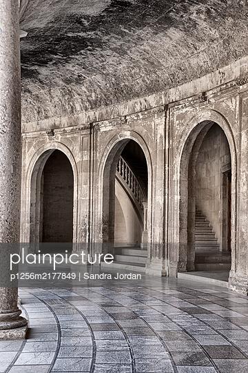 Arcades, marble structure, Alhambra, Granada, Spain - p1256m2177849 by Sandra Jordan