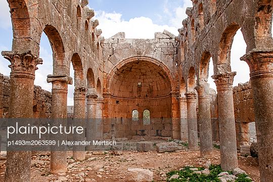 Ruinen des Mushabbak-Klosters nahe Aleppo, Syrien - p1493m2063599 von Alexander Mertsch