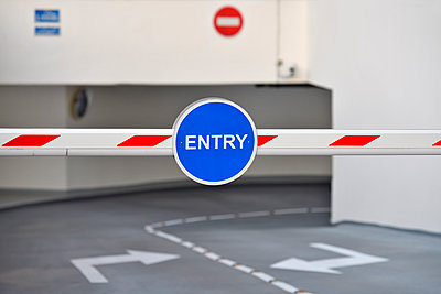 Car park entrance barriers - p1048m1512716 by Mark Wagner